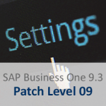 SAP Business One 9.3 pl 09